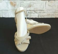 New Look Gold Sparkly Wedges Sandals Size 9.