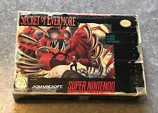 Secret of Evermore Super Nintendo *BOX ONLY* ~Ships Free Today~ SNES