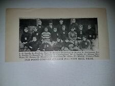 Old Point Comfort College Virginia 1901 Football Team Picture RARE!