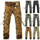 Mens Military Army Camo Combat Cargo Long Trousers Work Casual Pants Cotton New