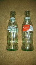 Set of 2 Coca-Cola Seasons Greetings Commemorative Bottle 8FL oz Bottles