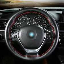 DIY 15''/38cm Car Auto PU Leather Steering Wheel Cover For Audi BMW BENZ VW 1pc