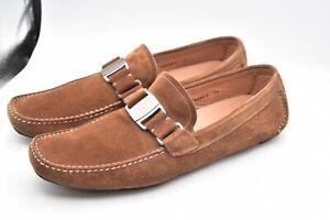 Salvatore Ferragamo Driver Suede Brown Shoes MEN'S SZ 12 B