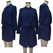 Patternless Short/Mini Everyday Shirt Dresses