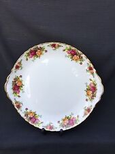 ROYAL ALBERT OLD COUNTRY ROSE EARED CAKE / Sandwich PLATE 1st Quality