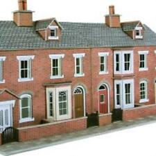 METCALFE PO274 1:76 OO/HO SCALE LOW RELIEF RED BRICK TERRACED HOUSE FRONTS