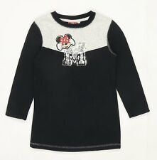 Disney Girls Black Minnie Mouse Jumper Age 4-5 Years