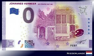 0 Euro Souvenir Schein 2021 JOHANNES VERMEER / PEBF 2021-5