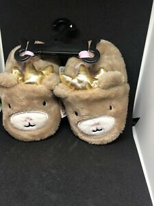 NEW Swiggles Infant  Slippers Size 4 , 5 , OR 6 ~ Queen/King Bear  (S1)