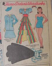 Jane Arden Sunday with Large Uncut Paper Doll from 11/23/1941 Full Size Page!