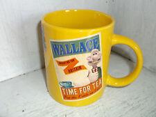 2012 Aardman WALLACE & GROMIT Tea Mug Cup Yellow Time For Tea Job Well Done