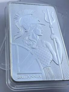 10oz 999 Silver Royal Mint Britannia Bar With Air Tight Capsule