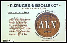 Buvard Publicitaire, A.KRUGER-NISSOLLE & Cie - Vin Confortable - Oran