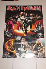 Poster Metal Hammer Vintage Iron Maiden Eddie Autogramme RAR beidseitig 79x55