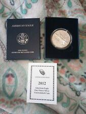 2012-W 1 oz. .999 Fine Silver Burnished Uncirculated Silver American Eagle Coin