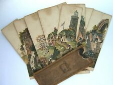 rare English game MYRIORAMA Sectional Panorama Landscape Cards c.1825