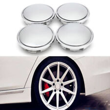 4Pcs Universal Chrome ABS Plastic Car Wheel Center Rim Hub Cover Caps For VW