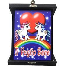 Targa Ti Voglio Bene Unicorno Idea Regalo San Valentino PS 26434
