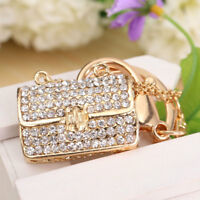 Crystal Handbag Keyring Rhinestone Charm Pendant Keychain Bag Key Chain Gift h