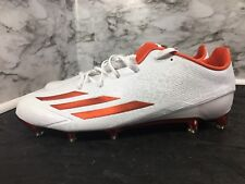 Adidas Adizero 5-Star White / Orange Football Cleats AQ7385 Men's Size 15 New