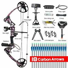 MuddyGirl Compound Bow Package M1,19�-30� Length,19-70Lbs Draw Weight Right Hand
