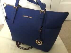 Michael Kors Jet Set Bag, Cobalt Blue, SUPERB CONDITION