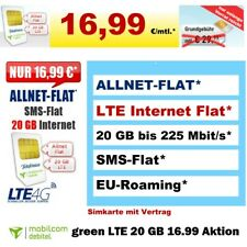 Sim Only Handytarif Allnet 20 GB LTE Internet Flat Mobilfunk Vertrag ohne Handy