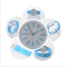 Colorful Women Men Couple Sport Silicone Jelly Quartz Analog Wrist Watch