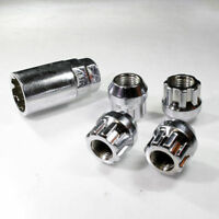 Wheel Locking Alloy Nuts M12 x 1.25 Bolts Tapered For Vauxhall Opel Corsa Astra