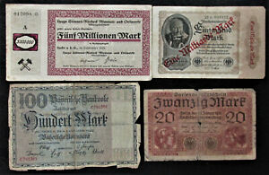 Set of 8 Germany Old Paper Money