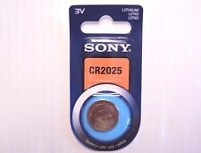Sony CR2025 3V Lithium Button/Coin/Cell Battery 1-pk by 2023 Genuine Sony NIP
