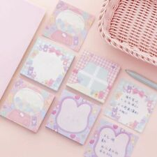 Pink Girls Sticky Notes Memo Notepad Cute Planner Stickers Bookmarks Stationery