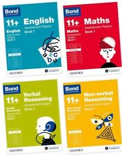 Bond 11+ plus Assessment Papers English Maths Verbal Reasoning Age 10-11 4 Books