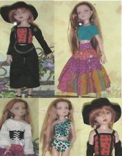"""Clothes, hat & more Sewing Pattern fits Ellowyne Wilde & other 16"""" fashion dolls"""