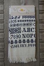 Gästetuch 40*60 Alphabet dunkelblau Geschirrtuch Clayre&Eef Landhaus Chalet