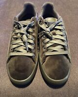 New Puma Clyde Velour Ice Mens Size 10 Green Casual Sneakers