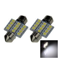 2X Festoon 30MM 31MM 32MM 6 SMD 1210 LED Interior Light Ceiling Lamp Car ZI007