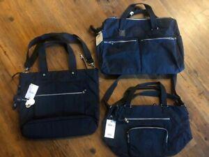Kipling Lizzie Laptop & Maxwell Tote & Itska N2 Duffle Bag True Blue New W Tag