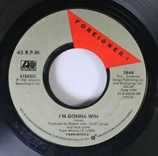 Rock 45 Foreigner - I'M Gonna Win / Waiting For A Girl Like You On Atlantic 1