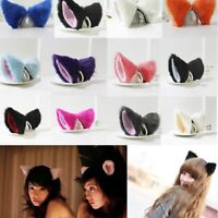 Anime Orecchiette Party Cosplay Cat animal Long Fur Ears Costume Hair Clip