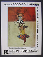 1977 Graciela Rodo Boulanger Los Domingos de Julieta etchings vintage print Ad