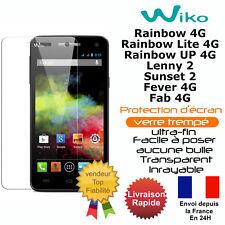 Verre trempé pour WIKO Rainbow Lite 4G Rainbow 4G UP 4G Lenny 2 Sunset 2 Fever 4