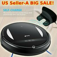 5-Mode Smart Robotic Vacuum Cleaner Floor Cleaning Sweeping w/ Remote Control HC
