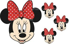 EDIBLE *PRECUT* ICING MINNIE MICKEY MOUSE TOPPERS PEEL & ATTACH NO CUTTING