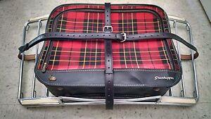 Vintage PORSCHE 356 Leitz Lietz Trunk Rack Leather Luggage Blk Straps Hand Made