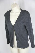 J Crew  Charcoal Grey  V neck cableknit Cardigan sweater  S