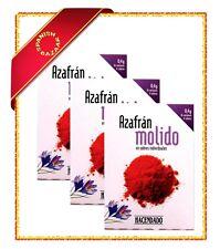 3x Ground Saffron Azafran 0.4 g - Spanish - Paella - Gluten Free Vegan Hacendado