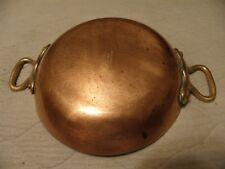 Vintage copper au gratin pan marked Bazar Francais, 12