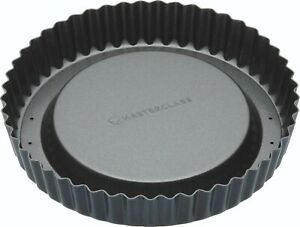"MASTERCLASS Non-Stick Raised Loose Base Sponge/Tart/Cake/Flan Tin 20cm/8""."