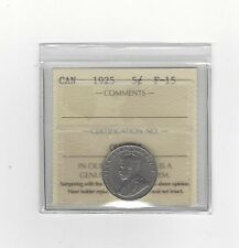 **1925**, ICCS Graded Canadian,  5 Cent, **F-15**